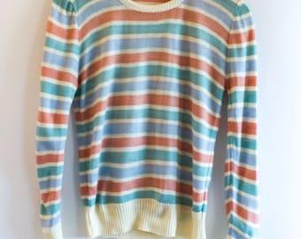Women's Vintage Stripped Sweater