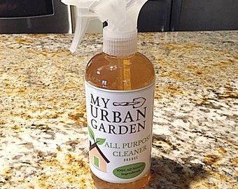Organic Orange Household Cleaner - All Purpose Cleaner - Organic Household Spray Cleaner - Organic All Purpose Cleaner - Kitchen Cleaner