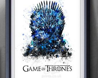 Iron throne art etsy for Iron throne painting