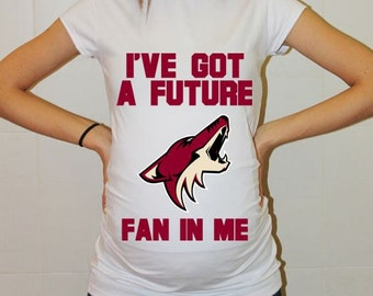 Arizona Coyotes Baby Arizona Coyotes Baby Boy Baby Girl Maternity Shirt Maternity Clothing Pregnancy New Baby Shower