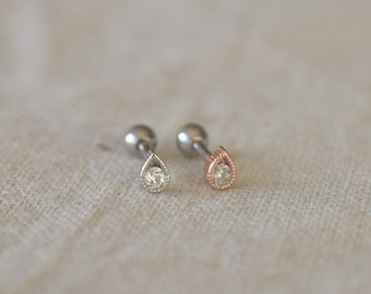 tragus earrings,little drop cartilage tragus helix earrings,minimalist earring