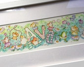 Watercolour name painting, created to order