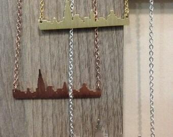 New York Cityscape pendant necklace