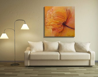 Abstract Wall Art, Floral Wall Art, Living Room Art Floral Art Print, Abstract Flowers, Large Wall Art, Floral Artwork, Living Room Wall Art