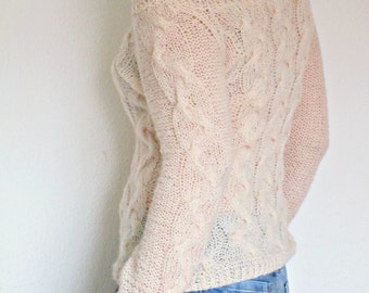 Knitting Pattern For Off Shoulder Sweater : Off shoulder sweater Etsy