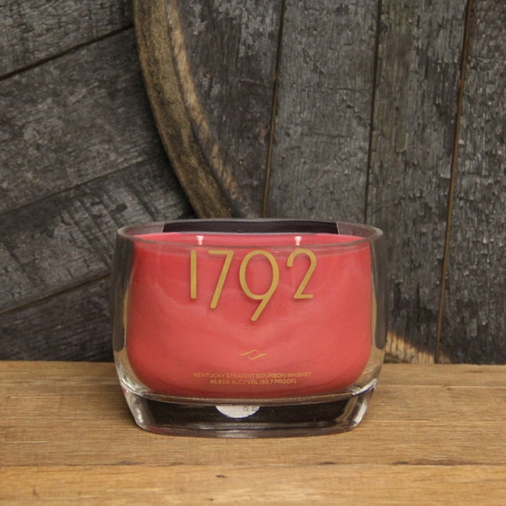Upcycled 1792 Bourbon Candle, Recycled Bourbon Bottle Candle Handmade Soy Candle 750ml Recycled Glass Bottle 18oz Soy Wax, Whiskey Gift