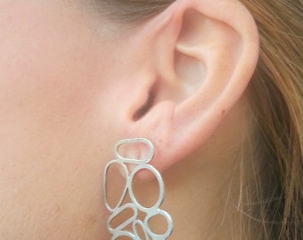 BCN silver earrings