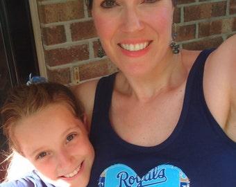 KC Kansas City Royals Baseball Tank Top for Women or Teens