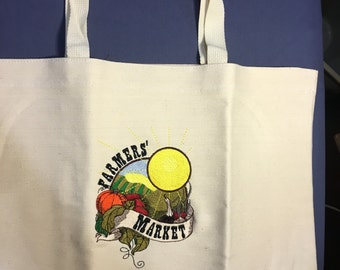 Tote Bag, Farmers Market, Gifts