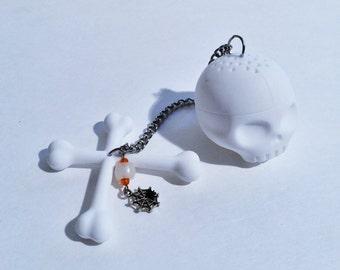 Skull tea Infuser, Pirate Tea infuser, goth, Sugar Skull tea Infuser, Skull Tea Ball, Pirate gift