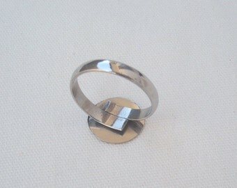 2 Pcs. #STAINLESS STEEL RINGS Blank  #BlankBaseRings #BezelSetings #StainlessSteelComponents #JewelrySupplies