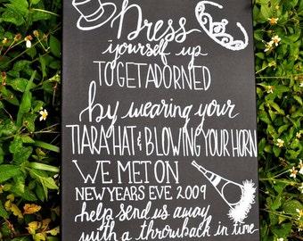 Hand Lettered Wedding Chalkboard Sign