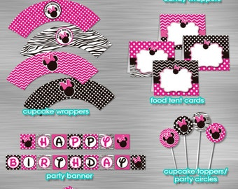 Minnie Mouse Printable Party Package DIY