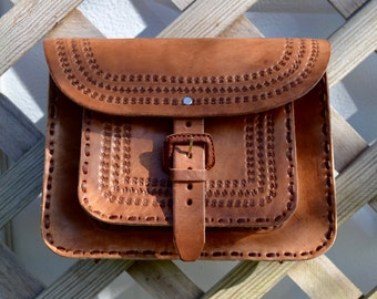 Leather Crossbody Bag // Leather Bag// Authentic Mexican Handmade