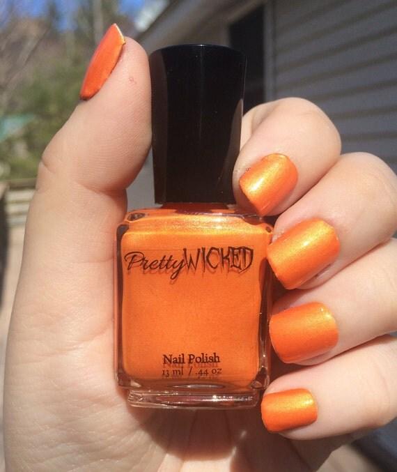 Black Nail Varnish Verruca: Orange Nail Polish Verruca Polish Bright Orange Nail Polish