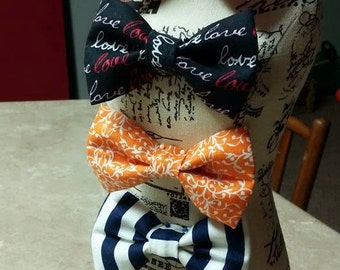 Bow Tie, Head Band, Hair Clip For Infant, Toddler, Children.  Variety Styles  (Nautical, Arrows, Tribal, Argyle, Love, Etc) or Custom Order!