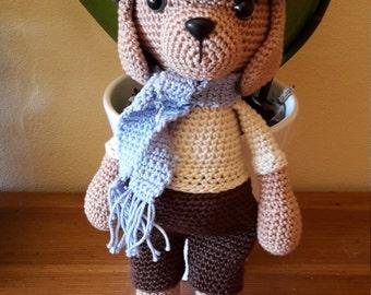 Dog shoki - crochet. AMIGURUMI