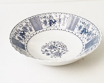 Blue and White China, Serving Bowl, Park Lane, England, J &G Meakin