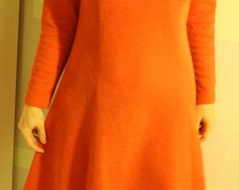 Charming Vintage Dark Orange Dress Rosses Design