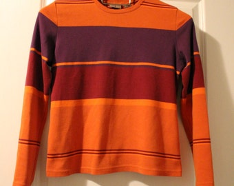 Vintage 90's Colorblock Striped Sweater