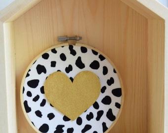 "Handmade Wall Decor 5"" Embroidery Hoop"