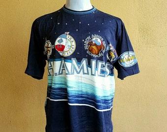 Hardy Amies Sport London - England Graphics Pattern Print Shirt Size M