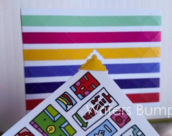 78 pcs Photo Corner Stickers Sheet with Decorative Edge - Multi Color