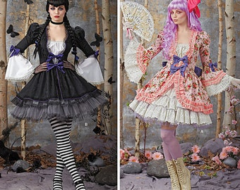 Sewing Pattern for Misses Lolita Costumes ,Simplicity Pattern  1300, Halloween Costume, Cosplay, Steampunk,Goth, Victorian