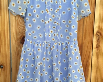 Blue Daisy Summer Dress