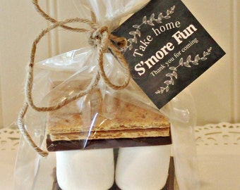 S'mores Kits, 12 S'mores Favor Kits, S'mores Favors, Thank You Gift, Wedding Favor, Baby Shower Favor, Thank You Favors, S'mores Party Favor