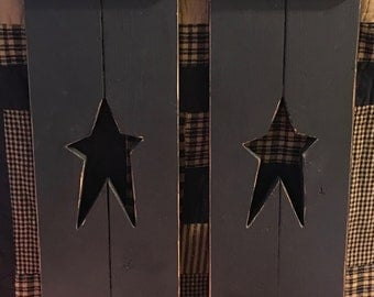 Black Primitive Star Cut-Out Shutter Set
