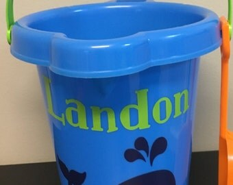 Personalized Beach Buckets