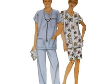 Simplicity 8730 Sewing Pattern, Size S Unisex Adults Doctor Costume Nurse, Halloween Costume, Men Loungewear Women, Pyjamas Pattern