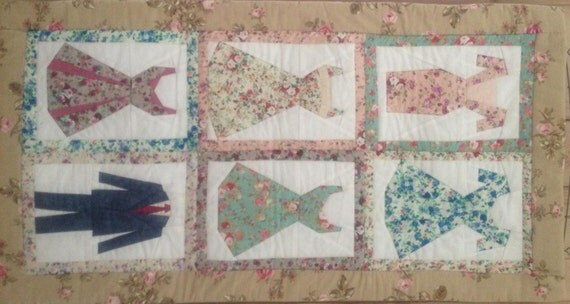 Patchwork Pattern For A Dresses Quilt Foundation By