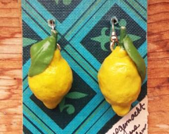 Jumbo Lemon Earrings
