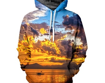 Amazon Sunset Hoodie - FREE SHIPPING - 3D Sublimation Printing – all over print hoodie / sweatshirt / crewneck / jumper top - Men & Women