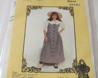 PRAIRIE JUMPER 1989 Sewing Pattern Stock #1 Adult Sizes XS S M L by the Prairie Clothing Co.