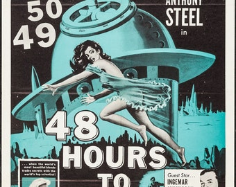 1950s SCI-FI CINEMA: An original U.S. movie poster for 48 Hours To Live, 1959,