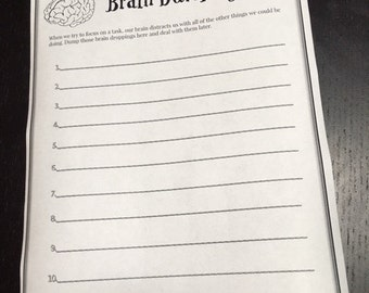 Brain Dumping Focus Sheet