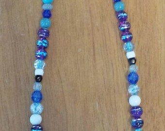 Afternoon Sky Stone and Bead Necklace