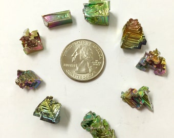 Three Mini Bismuth Crystals - Extra Small Bismuth