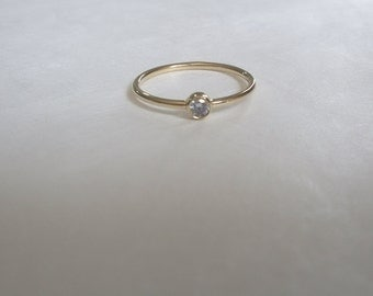 gold ring 14k gold ring solitaire ring promise ring gold 14k gold - Cz Wedding Rings