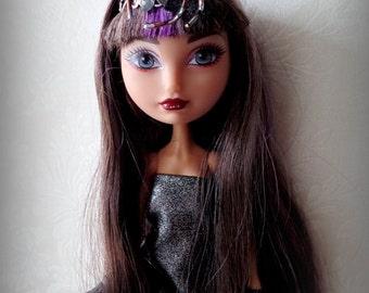 Ever After Barbie Momoko Liv Monster High spider arachnid headband fascinator, Steampunk doll, ghoul doll, araña headband,  doll accesory