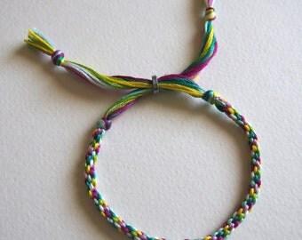 Woven Bright Adjustable Friendship Bracelet