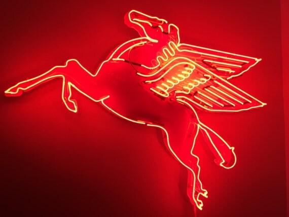 New Pegasus Flying Horse Neon Sign 42 Mobil Oil Brand
