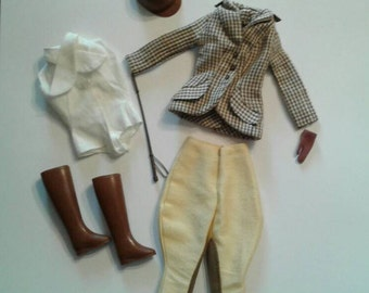 Vintage Barbie 1960s Riding in the Park Doll Clothes Outfit