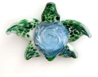 Whirlpool Sea Turtle Glass Implosion Pendant