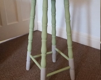 Beautiful Vintage Upcycled Wooden Stool
