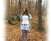Alice in Wonderland Costume: Peasant Dress & Pinafore