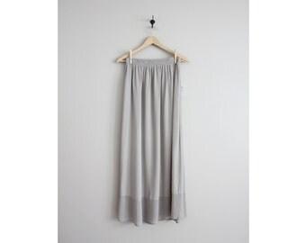 chiffon maxi skirt / long sheer skirt / 90s skirt